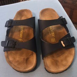 Women's Birkenstock's navy. Worn very little